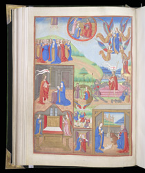 Full-Page Miniature With Scenes From the Life Of Christ And The Virgin, In A Book Of Hours f.53v